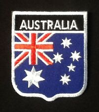AUSTRALIA NATIONAL ASSIE FLAG BADGE IRON SEW ON PATCH CREST SHIELD BACKPACKER