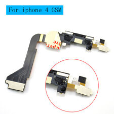 Black Dock connector for iphone 4 GSM A1332 charging port flex cable AB00