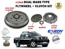 FOR NISSAN NAVARA D40 PICKUP 2.5 DCI 2005-2010 DUAL MASS FLYWHEEL + CLUTCH KIT