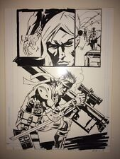 Metal Gear Solid Original Comic Art Rufus Dayglo Published Ashley Wood Tank Girl