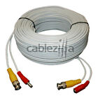 Security Camera White Video Power Cable Siamese Pre-Made CCTV DVR BNC RCA 75FT