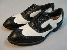 VTG FootJoy Wing Tip Snake Skin Golf Shoes sz 10.5 C Leather Soles Nailed Heel