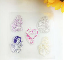 1 Sheet Silicone Color Transparent Stamp Seal Princess Scrapbooking Album