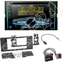 JVC KW-DB92BT 2-DIN CD/USB Radio + 5er BMW (E39) Radioblende black + 40-Flachpin