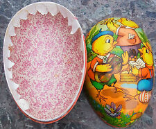 Osterei Dresdner Pappe Candy container Easter Egg Füllei Ei Huhn Küken1950