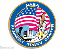 "4"" NASA KENNEDY SPACE CENTER HELMET CAR BUMPER EMBLEM DECAL STICKER MADE IN USA"