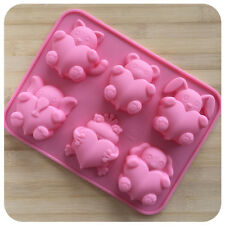 New 3D DIY Frog Dog&Heart Silicone Ice Cube Chocolate Cake Soap Mould Mold