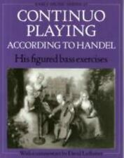 CONTINUO PLAYING ACCORDING TO HANDEL - DAVID LEDBETTER (PAPERBACK) NEW