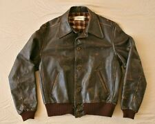 LEVI STRAUSS LVC VINTAGE 1930s STRAUSS BEAT BROWN LEATHER FLIGHT JACKET