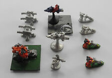 Epic 40K tarentule + taupe mortiers + jetbikes imperial space marines 1980s PA4