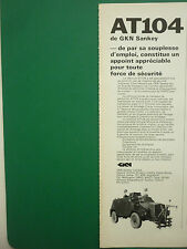 1974 PUB GKN SANKEY LIMITED AT104 VEHICULE BLINDE ARMOURED VEHICLE FRENCH AD