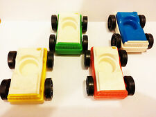 Vintage Fisher Price Little People Garage Cars!  Complete Set of Four Vehicles!!