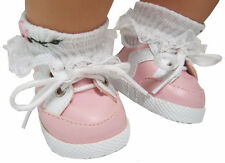 Pink Gym Shoes Sneakers For Bitty Baby + Twins Doll Clothes Moniques Brand