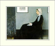 James Abbot McNeill - Whistler's Mother 10 x 8 Inch Mounted Art Print