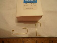 GOLD ABERDEEN 1 JIG HOOKS- MUSTAD-32755-COUNT IS 200--EX STRONG--SHORT SHANK