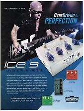 VOX - Overdrive Pedal - ICE 9 - Joe Satriani -   2010 Print Advertisement
