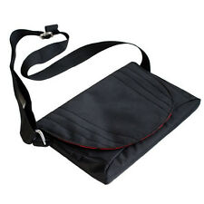Black Travel Slim Nylon Cross Body Messenger Bag for Apple iPad Mini 7.9-inch