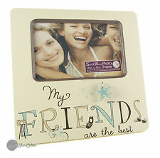 "MY FRIENDS 6"" X 4"" PHOTO PICTURE WOODEN FRAME FRIENDS GIFTS NV114"