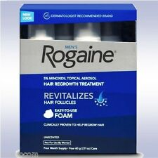 ROGAINE MEN'S FOAM (4 MONTH SUPPLY) 5% minoxidil topical 3 6 9 for men regaine