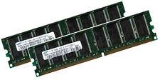 2x1GB 2GB RAM Speicher FujitsuSiemens SCENIC W300 W600 xB 400Mhz 184Pin
