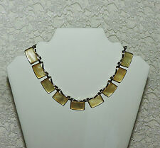 Vintage CORO Moonglow Thermoset  Necklace Gold Tone