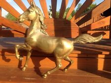 "Beautiful Vintage Large Brass Horse 28"" Long X 25"" Tall 6.5"" Deep Fantastic Buy!"