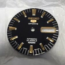Seiko 5 Sports SNZH57 Watch Dial - NEW Black w/ Gold