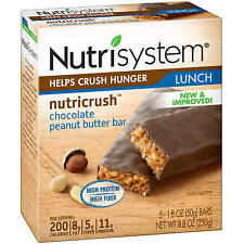 Nutrisystem Chocolate Peanut Butter Bars, 5 count