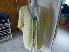 F&F POLYSTER/ACRYLIC YELLOW BEADED EDGE TO EDGE CARDIGAN [505426873542]
