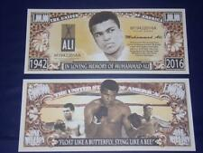 UNC.MUHAMMAS ALI  NOVELTY NOTE ONLY .25 SHIPPING FREE SHIP + FREE NOTES!