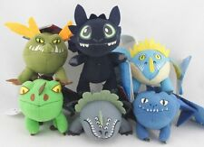 6pcs How to Train Your Dragon Stuffed Animal Toothless Night Fury Plush Soft Toy