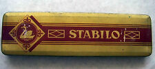 Stabilo Metal Pencil Box Empty Vintage Tin Swan Nuremberg Germany