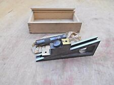 VTG STARRETT NO. 246 PLANER AND SHAPER GAGE WITH WOOD CASE , APPEARS UNUSED