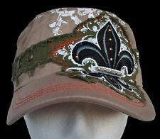 New Rugged Summer Hat Fleur De Lys Embroidered Cool Ball Hats Casquette Chapeau