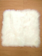 45cm x 45CM Square 100% Genuine Australian Soft Sheepskin Rug - white long hair