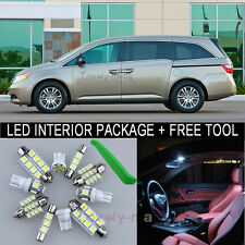 White LED Interior Package Light Bulb 18X Kit For 11 2013 Honda Odyssey + Tool J