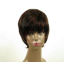 perruque femme afro 100% cheveux naturel courte méchée noir/rouge LAET 01/1b410