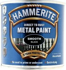 Direct To Rust Metal Paint - Smooth Black - 250ml 5084863 HAMMERITE