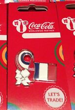 LONDON 2012 OLYMPICS COCA COLA FRANCE FLAG PIN BADGE RIO 2016