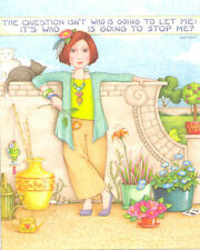 Ayn Rand-WHO IS GOING TO STOP ME?-Handmade Magnet-Using art by Mary Engelbreit