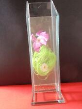 Vase Blumenvase Dekovase Glasvase eckig  NEU in OVP
