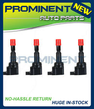 SET OF 4 NEW IGNITION COIL FOR 2007-2008 Honda Fit 1.5L 30520PWC003 UF-581 C1578