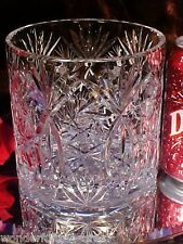 BEAUTIFL Vintage 60's 70's CRYSTAL GLASS ICE BUCKET Pinwheel Fan Design GERMANY!