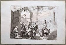 """LAZIO. """"Le litanie a Tivoli"""". Dall'opera di Bartolomeo Pinelli, anno 1816"""