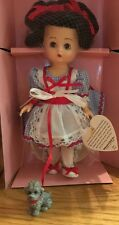 Vintage Effanbee Dorothy Wizard Of Oz Doll With Tags, Stand, And Toto Dog (MM)