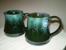 Vintage Blue Mountain Pottery Mugs ~ Perfect Pair ~ Signature Glaze~ Marked BMP