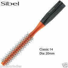Sibel Classic 14 Round Radial Hair Brush 20mm Tipped Ends With Rubber Handle