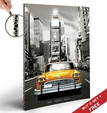 NEW YORK TAXI NO 1 VINTAGE CARDBOARDED POSTER 30X21cm Home Wall Decor ART PRINT