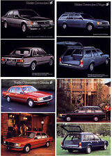 Four 1980 HOLDEN VC COMMODORE SEDAN & WAGON Brochure Sheets 6 & 4 Cylinder SLE