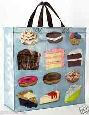 "Shoppers Tote 'Sweet Treats' NWT Recycled Materials Blue-Q 15""h x 16""w x 6""*"